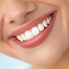 Closeup of healthy smile