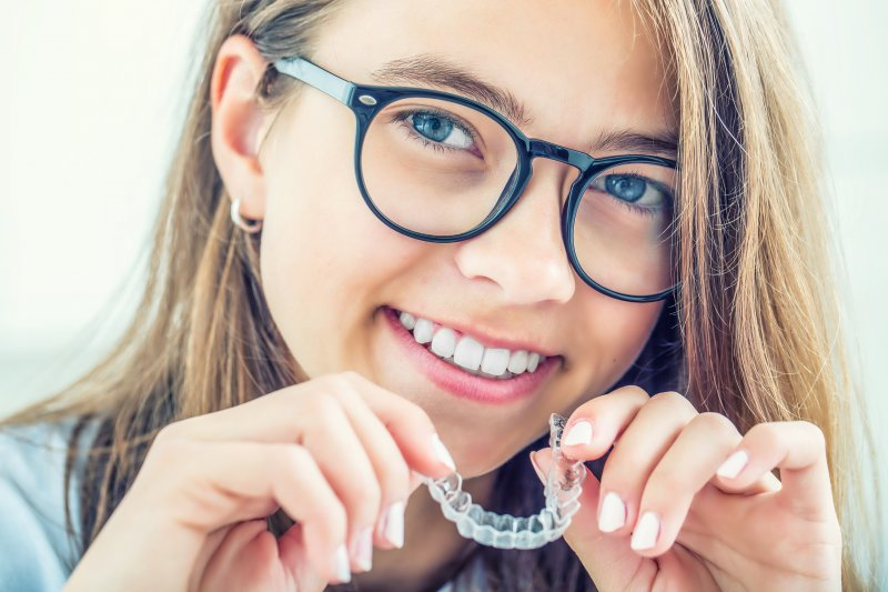 Woman with Invisalign in Sunnyvale